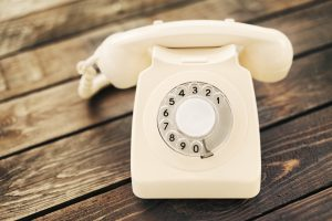 classic vintage rotary dial telephone
